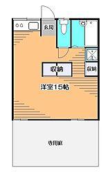 東京都小平市学園西町3の賃貸アパートの間取り