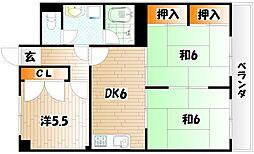 アーバンプラザ21[4階]の間取り