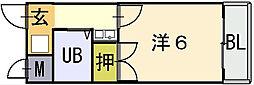 シティーライフ弥刀[4階]の間取り
