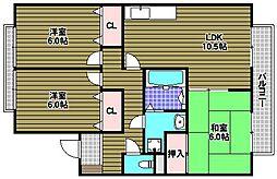 大阪府和泉市伏屋町3丁目の賃貸アパートの間取り