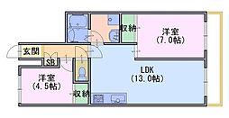 モアライフ酒井松[3階]の間取り