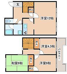 [テラスハウス] 兵庫県神戸市西区北別府3丁目 の賃貸【/】の間取り