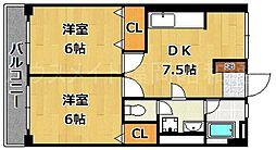 第1コーポ舞鶴ビル[5階]の間取り