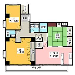 コンフォート21[1階]の間取り