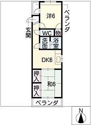 コーポ大塚[1階]の間取り