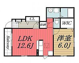 千葉県佐倉市生谷の賃貸アパートの間取り