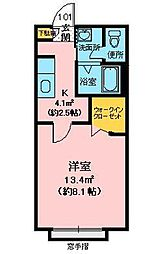 ゴールドバードKEN[1階]の間取り