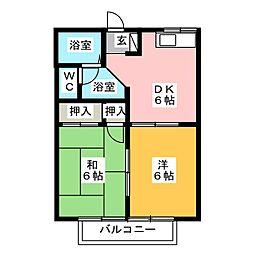 ティファニーM2 A[2階]の間取り