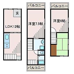 [一戸建] 神奈川県相模原市中央区淵野辺4丁目 の賃貸【/】の間取り