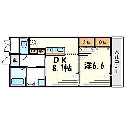 クラルテ甲子園[3階]の間取り