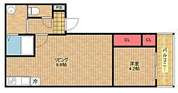 フジパレス北加賀屋ノース[1階]の間取り