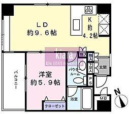 ヴィーナスヴァーゴ横濱[4階]の間取り
