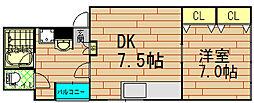 呉竹マンション[3階]の間取り