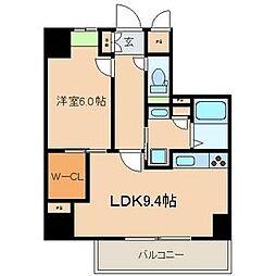 シー・クリサンス神戸[6階]の間取り