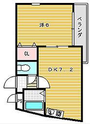 アルカディアPART3[2階]の間取り