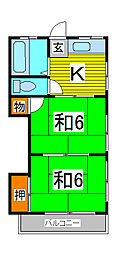 伸三荘[1階]の間取り