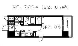 クレアートアドバンス大阪城南[206号室号室]の間取り
