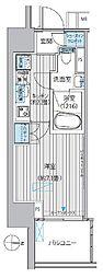 東京メトロ丸ノ内線 淡路町駅 徒歩1分の賃貸マンション 13階1Kの間取り