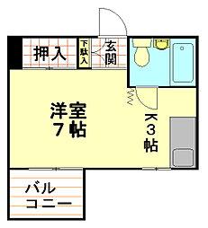 ヤマギマンション[3階]の間取り