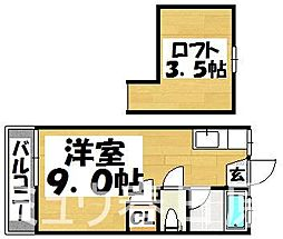 福岡県春日市日の出町6丁目の賃貸アパートの間取り