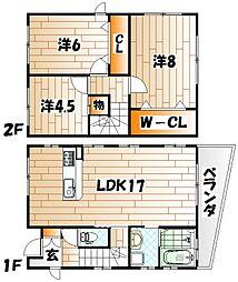 [一戸建] 福岡県北九州市小倉北区下富野2丁目 の賃貸【/】の間取り