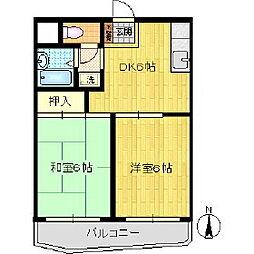 ソシエ川崎[206号室]の間取り