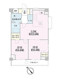 中新井サンライトマンション[108号室]の間取り