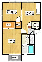 コーポ栄(成田)[102号室号室]の間取り