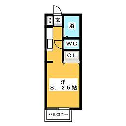 ツインズハウスB[1階]の間取り