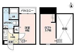 神奈川県平塚市桃浜町の賃貸アパートの間取り