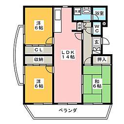 BRIGHT HILLS[3階]の間取り