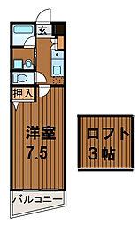 スターダスト柿生[3階]の間取り