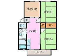 三重県四日市市日永西2の賃貸アパートの間取り