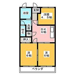 サンシャイン24[4階]の間取り
