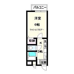 シンセナリ—ハイツ[205号室]の間取り