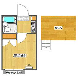 Plaza A 〜Kemigawa〜[202号室]の間取り