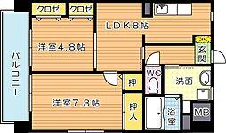 シェアンジュ21[5階]の間取り