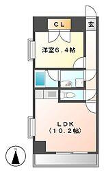 アビタシオン葵[4階]の間取り