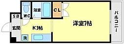 アヴァンセクール江坂[2階]の間取り