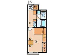 レオパレスウェル[1階]の間取り