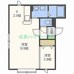 北海道札幌市東区北二十八条東17丁目の賃貸アパートの間取り