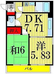 パレ綾瀬[5階]の間取り