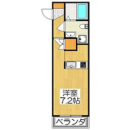 THE GARNET SUITE RESIDENCE深草[202号室]の間取り