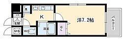 プレサンス京都三条大橋東山苑[203号室号室]の間取り