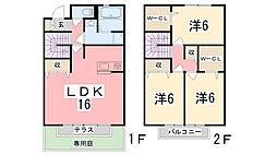 [テラスハウス] 兵庫県姫路市西庄乙  の賃貸【兵庫県 / 姫路市】の間取り
