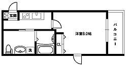 パークヒルズ新大阪ウィル[3階]の間取り