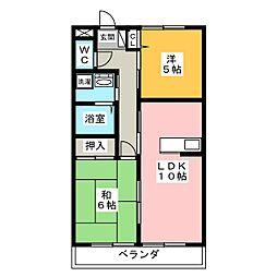 カーサドルチェ[1階]の間取り