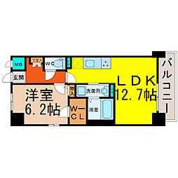 愛知県名古屋市北区若葉通4丁目の賃貸マンションの間取り