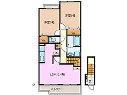 クレーストI[2階]の間取り