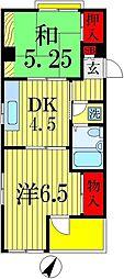 アザレア西船ハイツ[2階]の間取り
